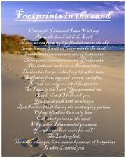 Footprints In The Sand Poem Birthday Christmas Gift Present