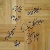 2003 Duke ACC Champ team signed floor Danny Ewing Dahntay Jones Shavlik Randolph
