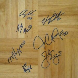 2003 Duke ACC Champ team signed floor Danny Ewing Dahntay Jones Shavlik Randolph