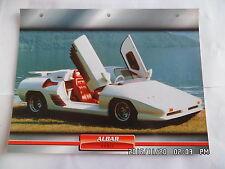 CARTE FICHE VOITURES D'EXCEPTION ALBAR SONIC 1997