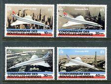 New Hebrides Fr 274-277, MNH Concorde 1st commercial flight Paris-NY 1978 x18699