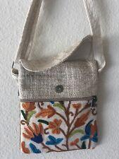 Hippie Boho Eco Frendly Rucksack THC Free PURE Hemp Side BAG Adjust Nepal SB1