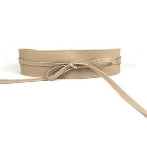 Around Original Band Waist Wide Faux Wrap Waistband KRISP Obi Leather Belt Cinch