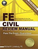 FE Civil Review Manual   by Michael R. Lindeburg