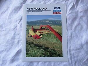 1989 Ford New Holland 116 haybine mower-conditioner brochure