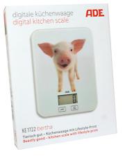 ADE KE 1722 bertha Digitale Küchenwage mit Schweinchen Motiv