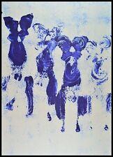 Yves Klein Anthropometrie Poster Kunstdruck Bild im Alu Rahmen schwarz 100x70cm