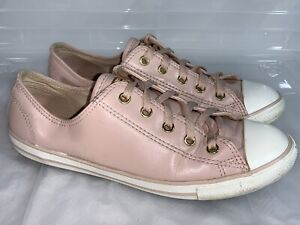 CONVERSE CT Dainty Pink Gold Sneakers - Womens 8 #20595