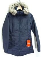 New North Face Womens Active Harway Insulated Parka Fur Hooded Jacket Coat S