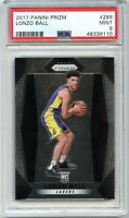 2017-18 Panini Prizm LONZO BALL Rookie Card PSA 9 Mint!