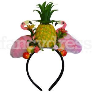 Tropical Pineapple Fiesta Carmen Miranda Cuban Flamingo Fancy Dress Headband NEW