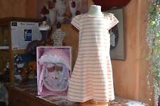 robe neuve petit bateaux  6 ans abricot blanc tres jolie sincerment
