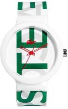 Lacoste Unisex Watch Goa 2020062 Analogue Silicone Green White