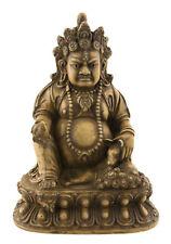 Statue tibetaine  Jambhala Dieu des Richesses Vaishravana 15cm Beige 25535