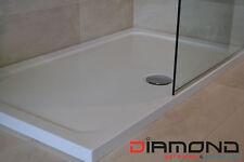 Slimline 40mm 1100x800 DIAMOND Stone Shower Enclosure Tray Rectangle Free Waste