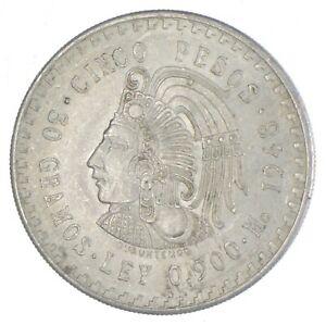 SILVER - WORLD Coin - 1948 Mexico 5 Pesos - World Silver Coin *713