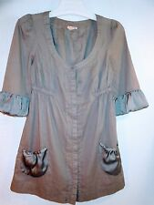 Lucca Grey Tunic Top Size M