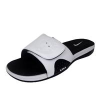 Nike Air Lebron Slide 487332 100 White Black Mens Sandals Leather Vintage SZ 12