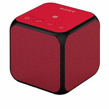 Red Sony SRS X11 Portable Bluetooth Wireless Cube Speaker