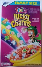 NEW GENERAL MILLS FRUITY LUCKY CHARMS CEREAL 21.2 OZ BOX FREE WORLDWIDE SHIPPING
