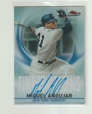 2019 Topps FINEST ORIGINS Miguel Andujar REFRACTOR ON CARD AUTO NY Yankees