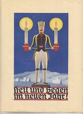 Seltener Schmuckbrief Segen im neuen Jahr ! Erzgebirge Bergmann sign. 1937 ! (D5