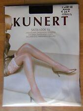 KUNERT bas - Les atouts de Lang SATIN LOOK 15 transp. brillant gr. gr.35-37 Noir