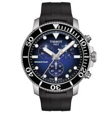 NEW MENS TISSOT T120.417.17.041.00 SEASTAR 1000 BLUE DIAL MENS CHRONOGRAPH WATCH
