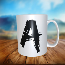 """ALPHABET LETTER -TEA/ COFFE MUGS - letter """"A"""" - perfect gift"""