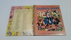 Little Golden Book 1stSYD Walt Disney GRANDPA BUNNY D12 easter PAPER SPINE 4SQ