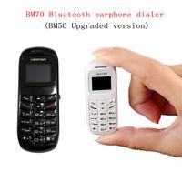 2017 Unlocked BM70 Mini Small Mobile Phone Bluetooth Dialer Earhook Cellphone