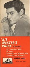 HIS MASTER'S VOICE HMV RECORD CATALOGUE SUPPLEMENT 1955 03 march eddie fisher
