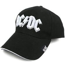 OFFICIAL LICENSED - AC/DC - WHITE LOGO BASEBALL CAP ANGUS ROCK
