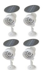 4PACK White New Solar Powered Motion Sensor Security light 12 LED Garage Outdoor