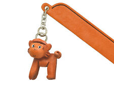 Monkey Leather Charm Bookmarker *VANCA* Made in Japan #61213