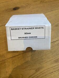 New High quality Italian Kitchen 1 Single Bowl sink waste kit Brushed Chrome 90m