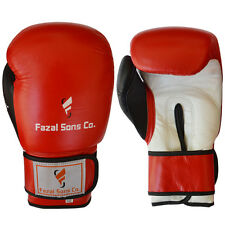 Gants de boxe sparring kick-boxing Lutte Grappling Gant Muay Thai Rouge Blanc, 14 oz (environ 396.89 g)