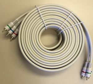 25' 3 RCA Male to 3 RCA Male Python Component Video RGB cable