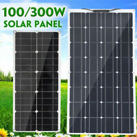 100W/300W Solar Panel Monocrystalline Dual USB Battery Flexible Charger Camping