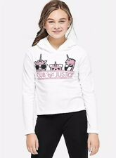 Justice Girl's Size 10 CLUB JUSTICE Hooded Tee New with Tags