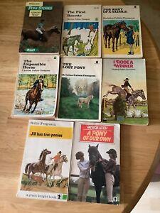 Vintage/ Old Pony books By Ruby Ferguson, Pullein-Thompson & Patricia Leitch X 8