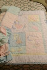 peter rabbit cot bed quilt and pillow grey and white chevrons and 8 bumper wraps