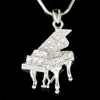 """MUSIC INSTRUMENT PIANO DOG TAG NECKLACE 30/"""" FREE CHAIN fw4ij"""