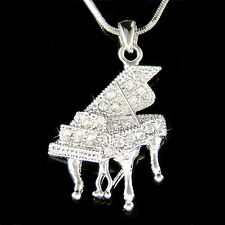 w Swarovski Austrian Crystal MUSIC Baby Grand Piano Jewelry Pendant Necklace New