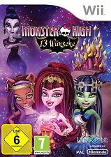 Monster High: 13 Wünsche (Nintendo Wii, 2013, Keep Case)