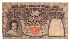 Italia Banco di Napoli  50 lire 13 12 1914  MB/BB  rif 626