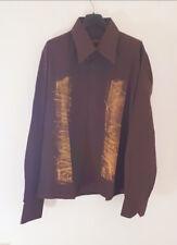 CAMICIA UOMO SFUMATA stile vintage moda italia TAGLIA M abbigliamento casual