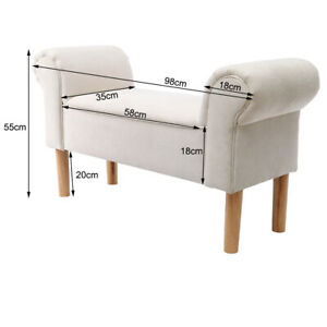 Bedroom Chaise Lounge Hallway Window Seat Bed Side End Sofa Bench Ottoman Chair
