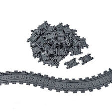 X50 Flexible Rail train tracks Railroad Non-Powered Railway Compatible With LEGO