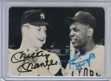 "MICKEY MANTLE & WILLIE MAYS AUTOGRAPHED 3.5"" X 2.5"" 1981 SAN DIEGO SHOW CARD 1/1"